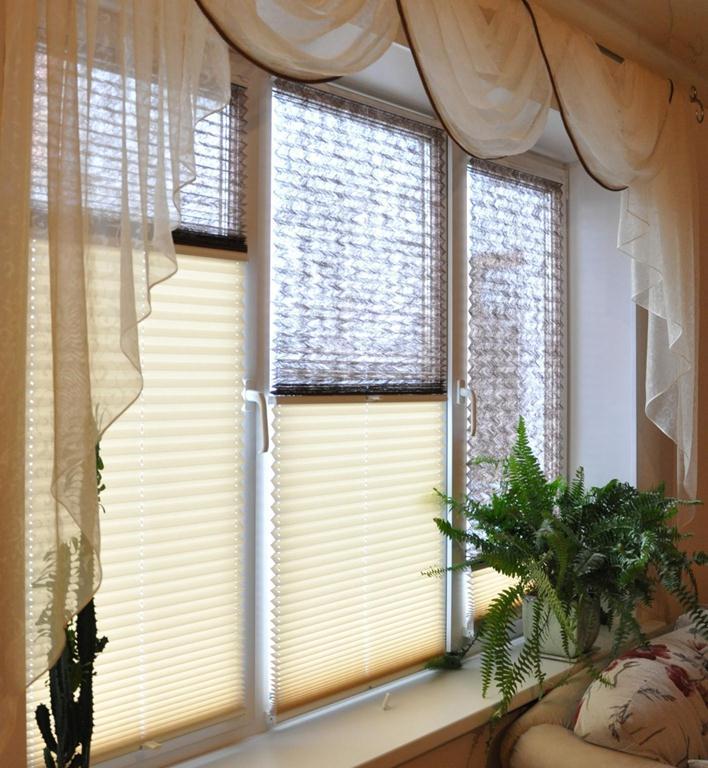 шторы плиссе для пластиковых окон